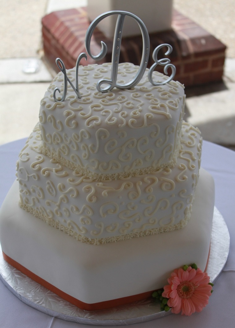 Scrolled Wedding Cake