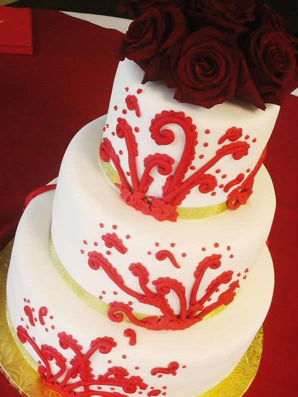 Red Scroll Wedding