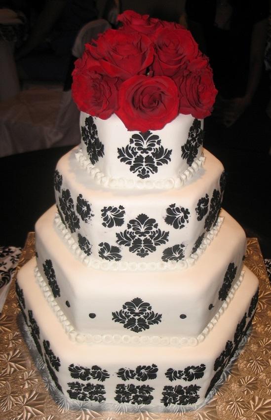 Black Damask Wedding