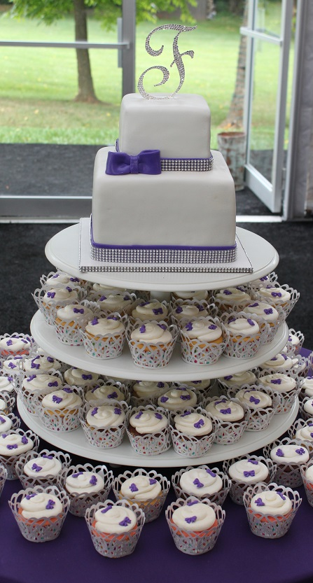 Bow Wedding Cupcakes