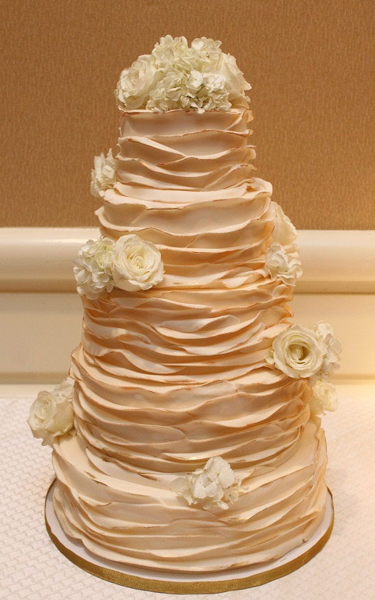 Golden Ruffle Wedding