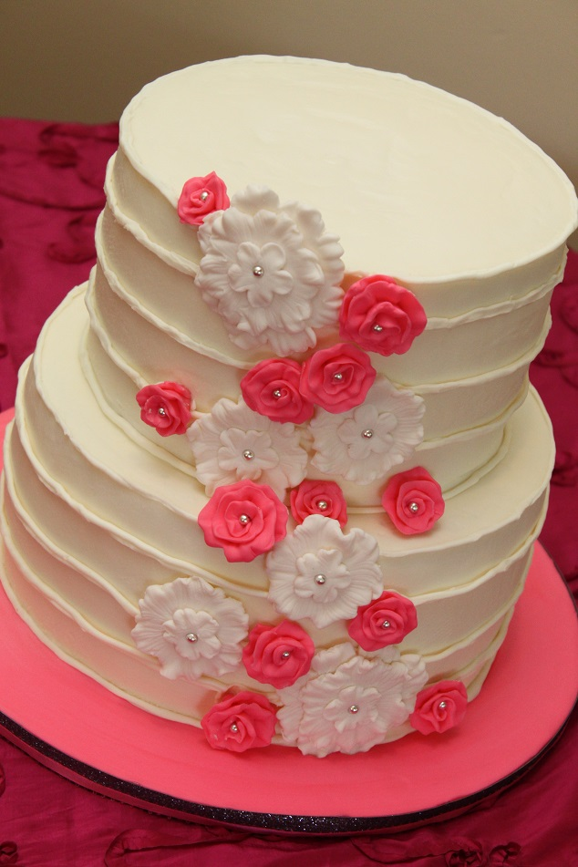 Hot Pink 2-Tier Wedding
