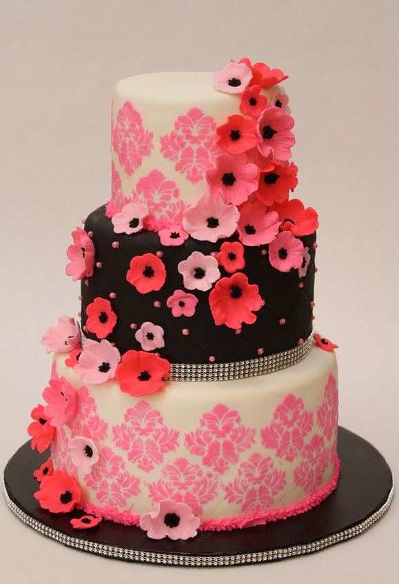 Pink & Black Wedding