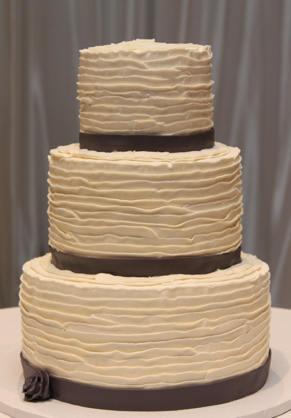 Buttercream Ruffles with Gray