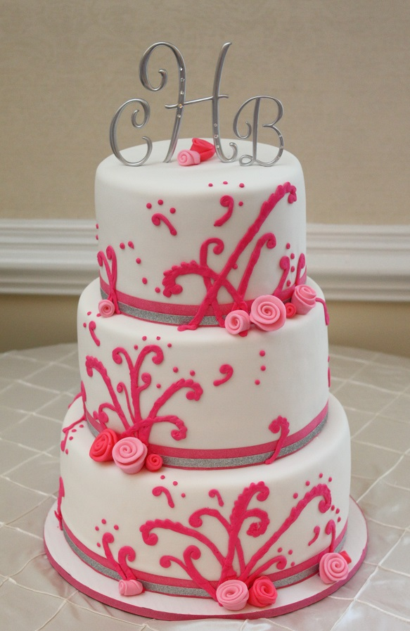 Pink Scroll Wedding