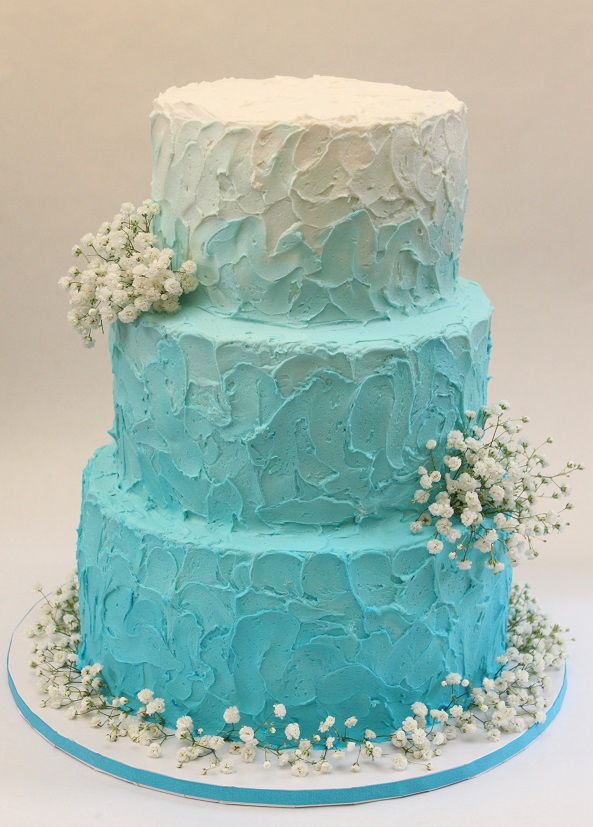 Teal Ombre Buttercream